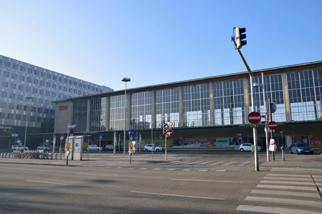 ウィーンの駅の外観