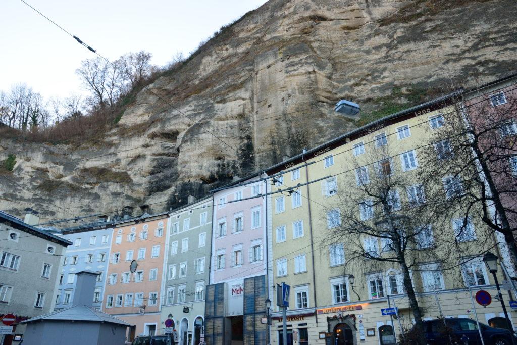 ザルツブルクの断崖絶壁