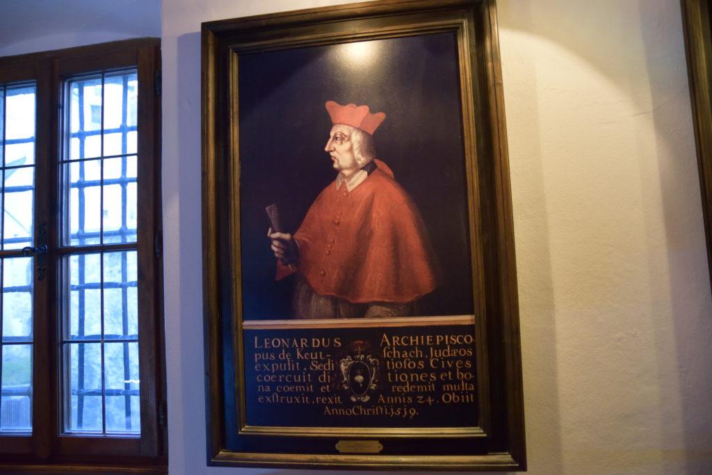 ザルツブルク城を使っていた王の肖像画