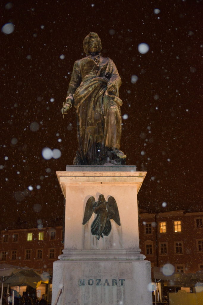 モーツァルトの銅像