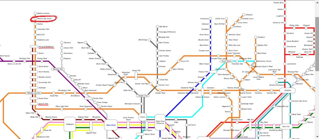 行き方地下鉄路線図