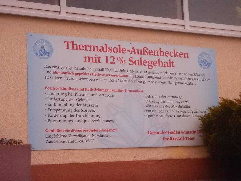 死海風呂についてドイツ語での説明