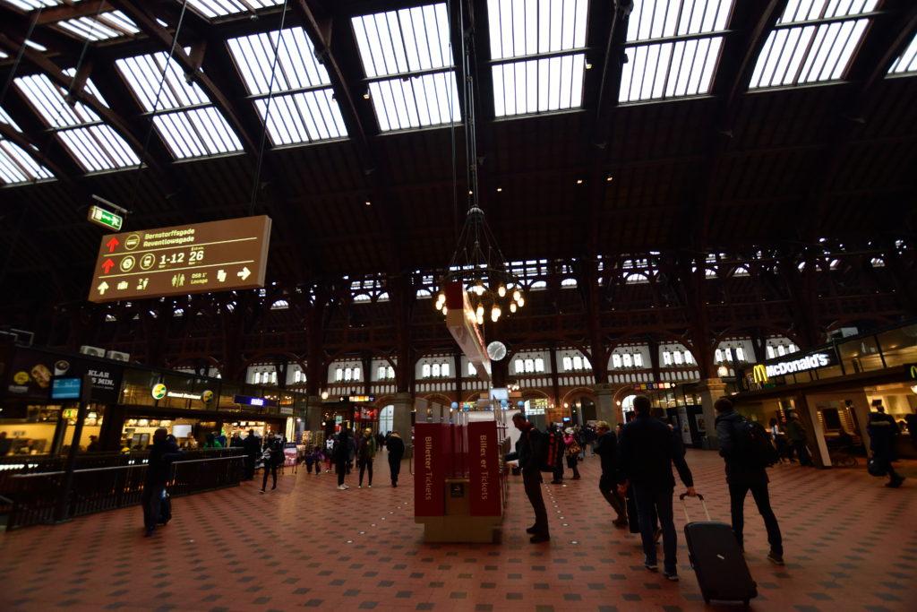コペンハーゲン中央駅構内