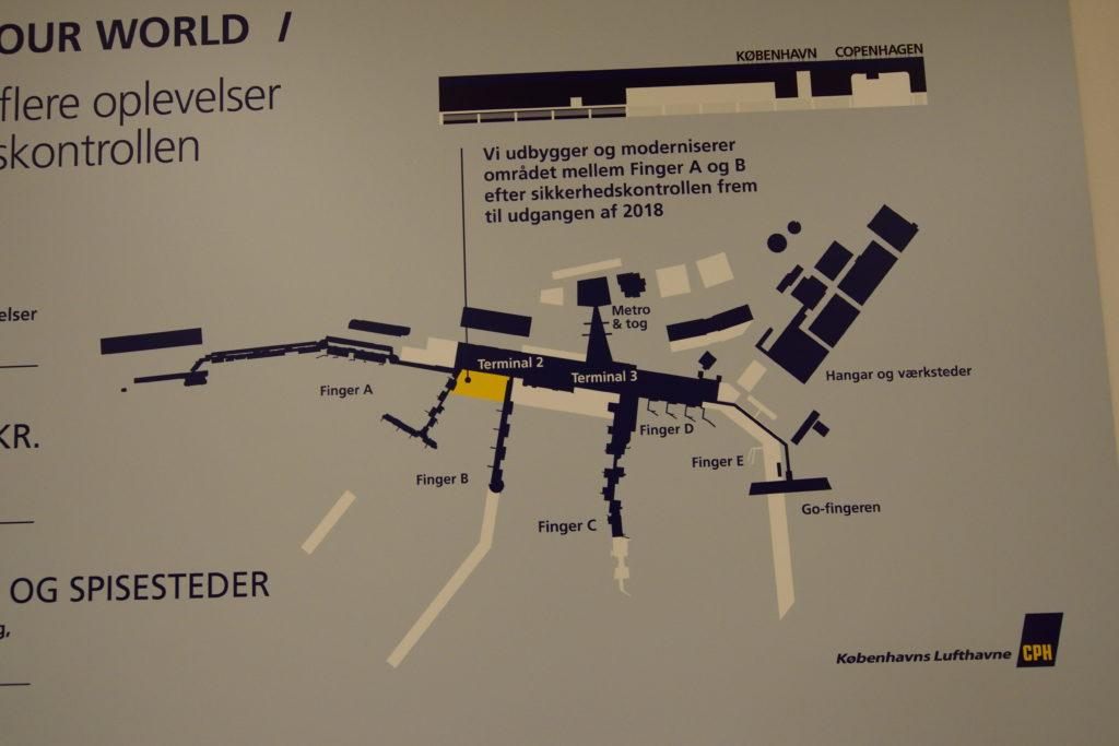 コペンハーゲン空港構内図