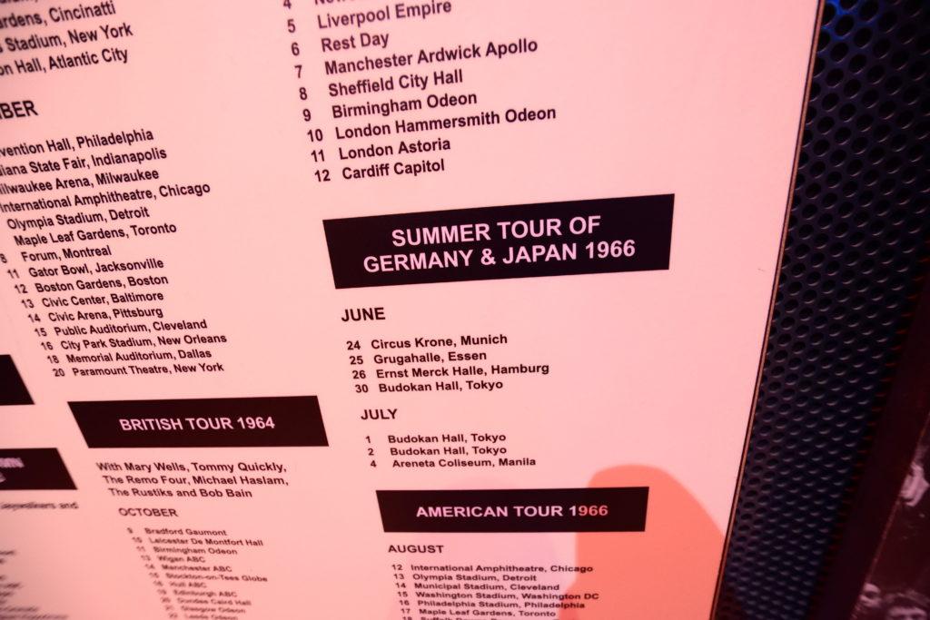 ビートルズの行ったツアー一覧