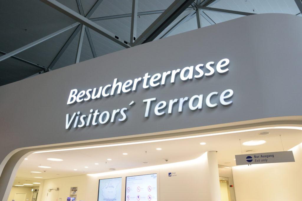 フランクフルト空港の展望デッキ