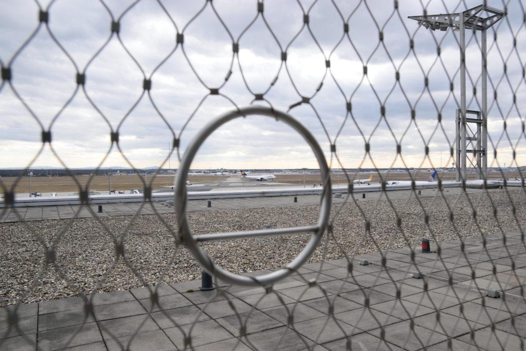 飛行機撮影用の金網