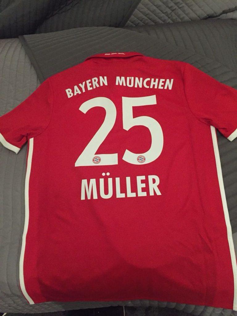 ドイツ代表トーマス・ミュラーのホームユニフォーム
