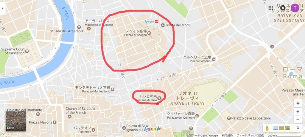 聖地巡礼用のローマの地図