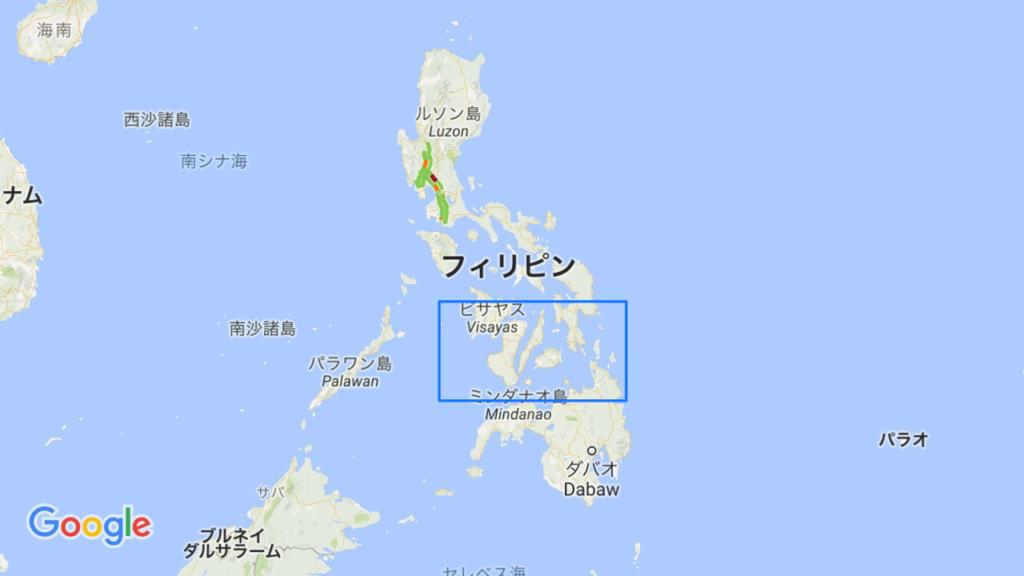 セブの場所の地図