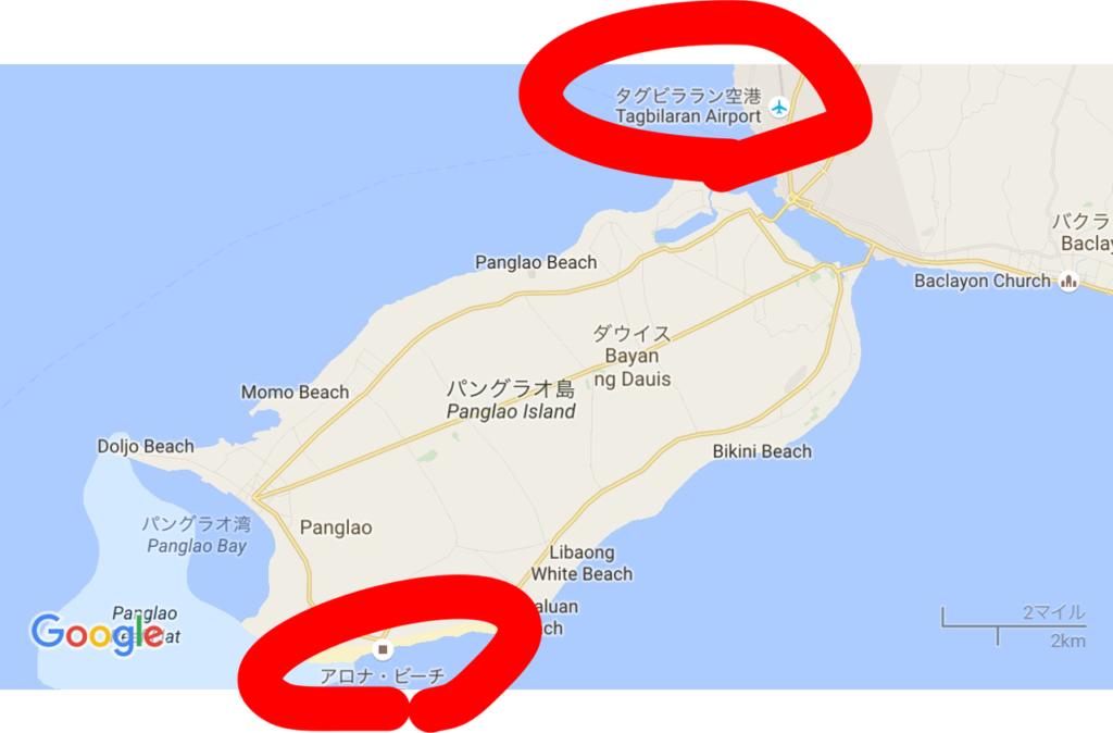 パングラオ島マップ