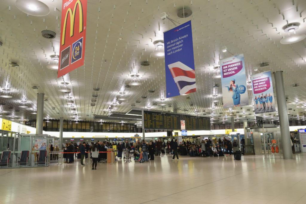 ハノーファー空港出発ターミナル