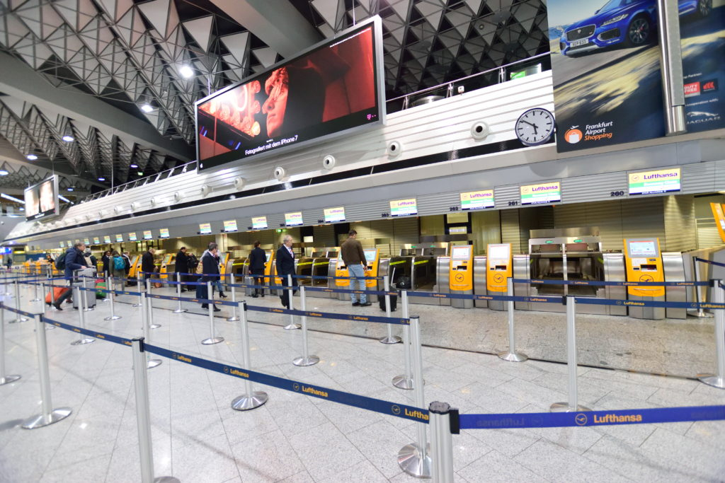 フランクフルト空港第1ターミナルバゲージドロップ