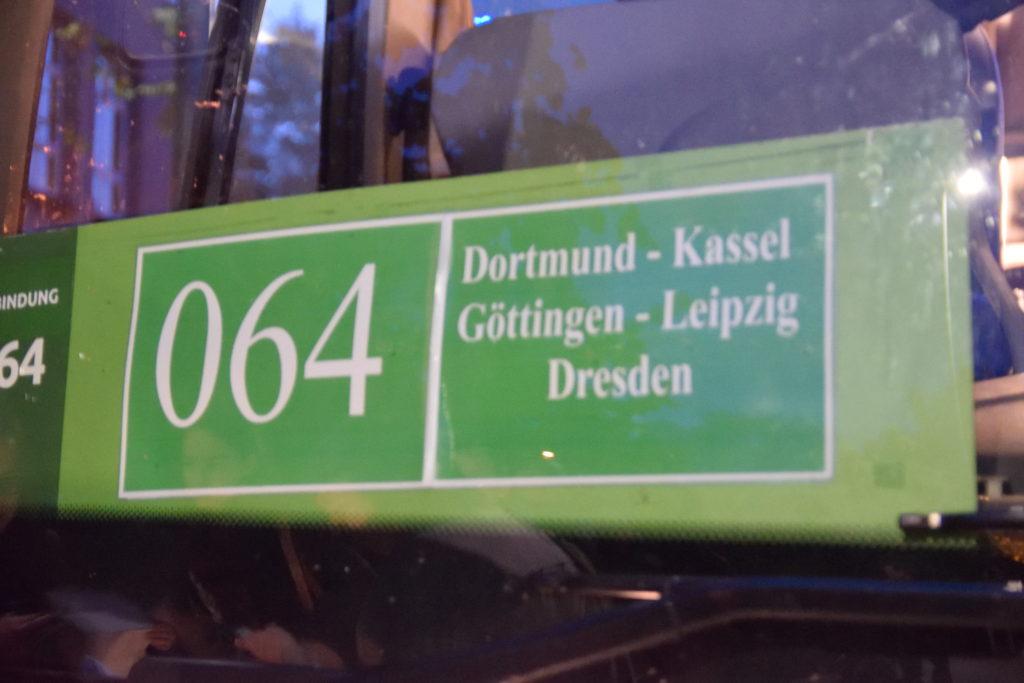 ドレスデン行きの長距離バス