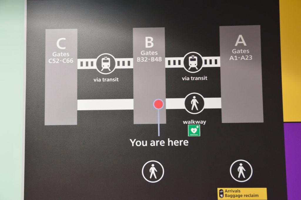 ヒースロー第3ターミナルの地図