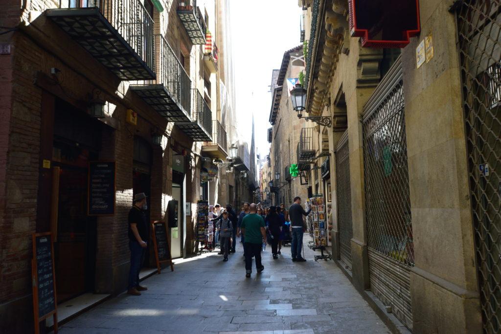 ピカソ美術館近くのバルセロナの街並み