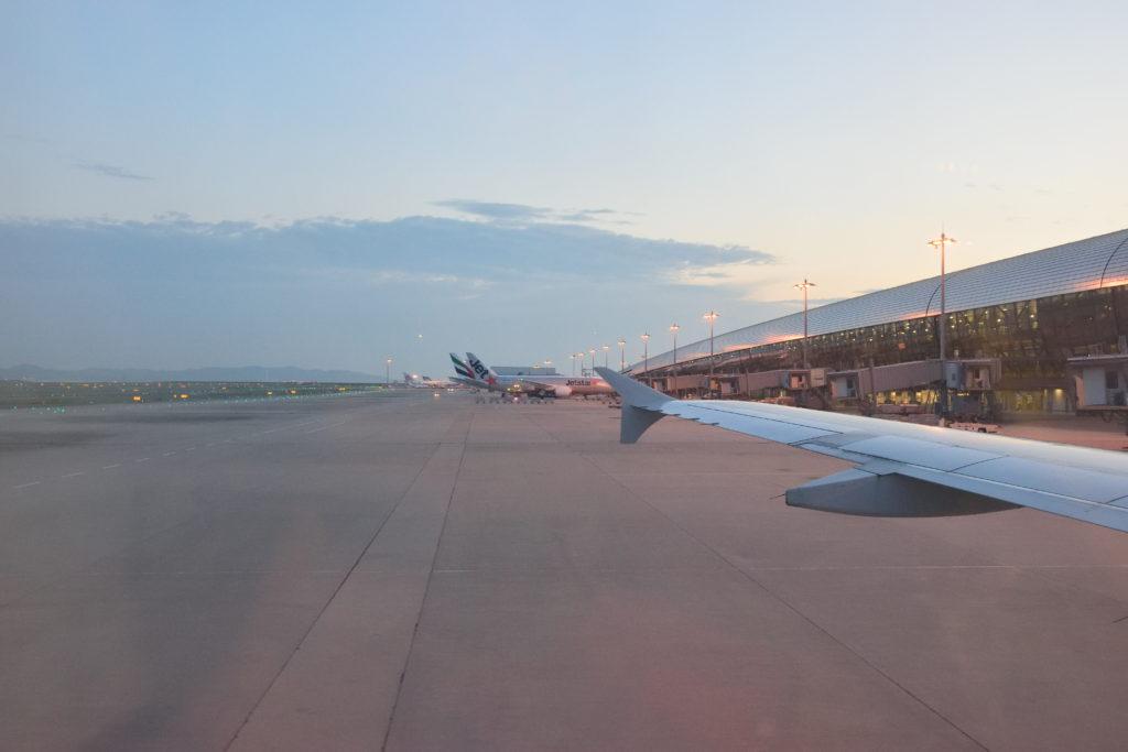 機窓から見た関西国際空港