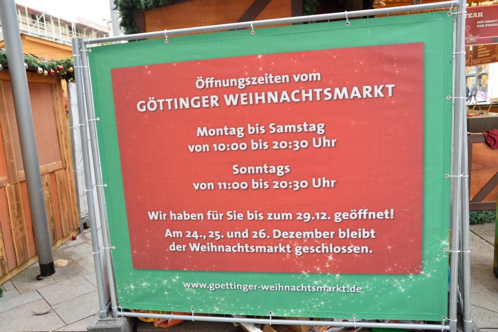 ゲッティンゲンのクリスマスマーケットの開催時期の情報