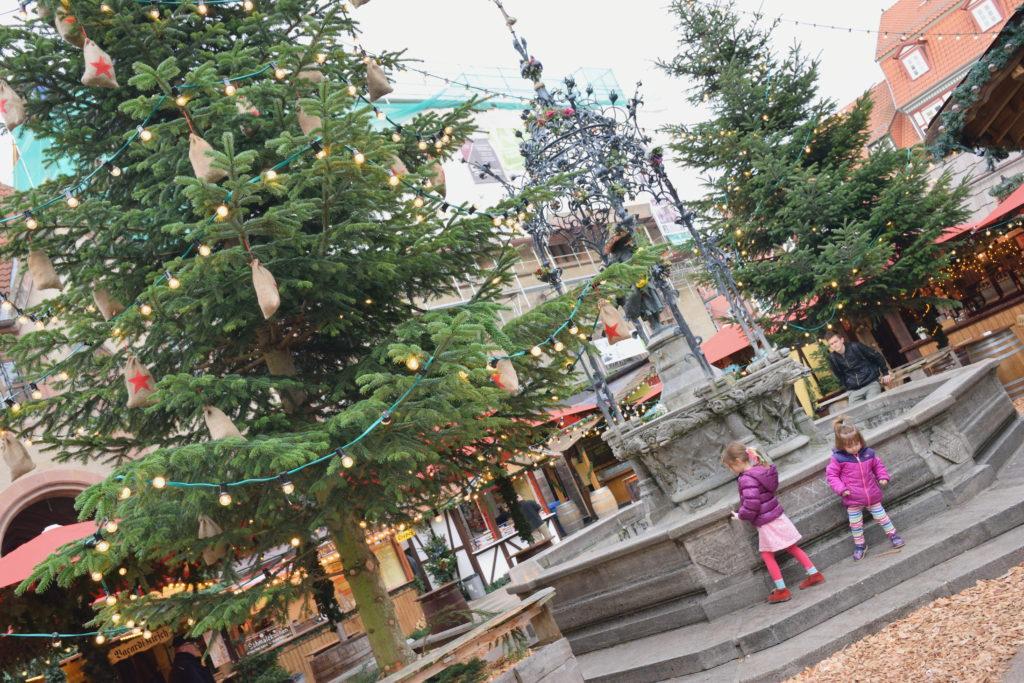 クリスマスマーケットにあったツリー