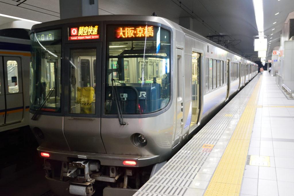 関西国際空港にて関空快速