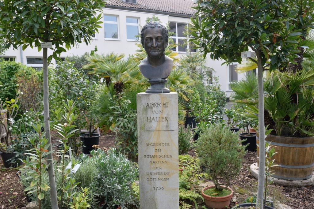 植物園にある偉い人の銅像
