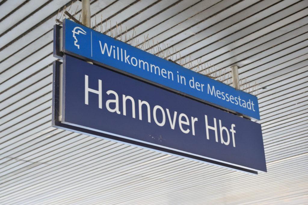 ハノーファー中央駅看板