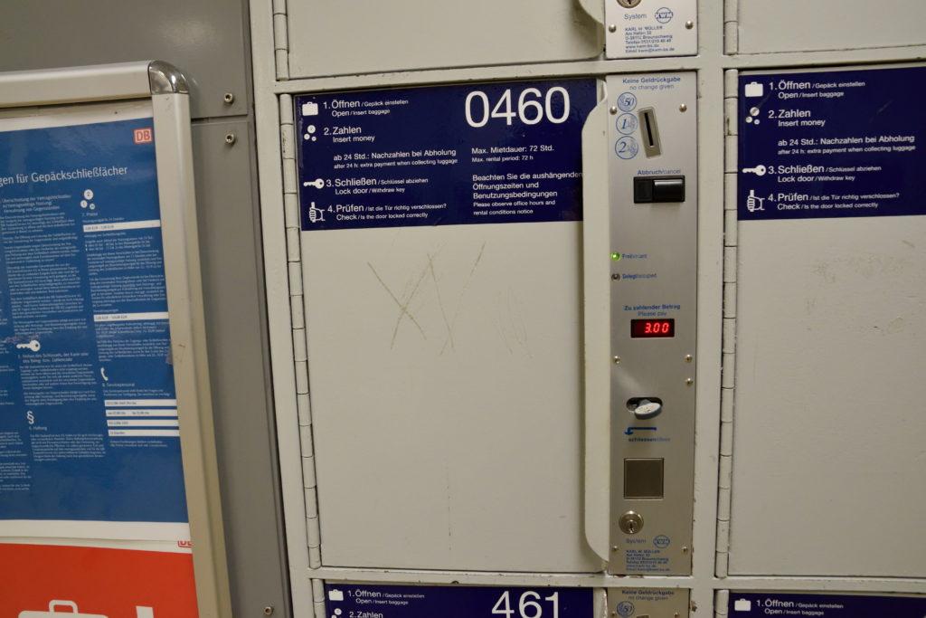 ハノーファー駅の小さなコインロッカー