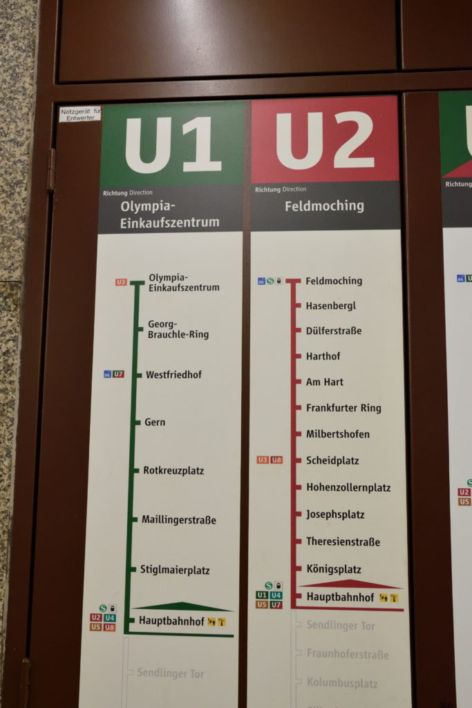 ミュンヘン地下鉄路線図