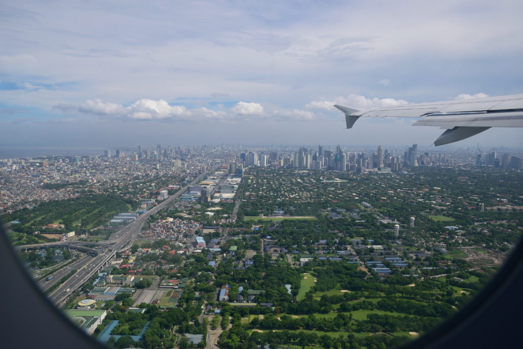 上空から見たマニラ市街