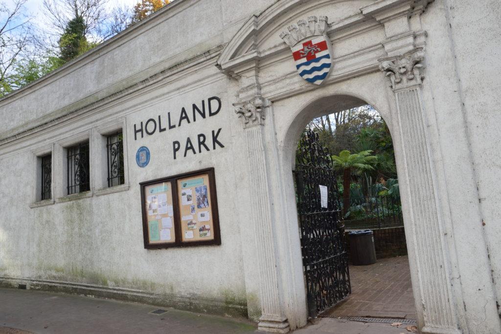ホランドパークの入口