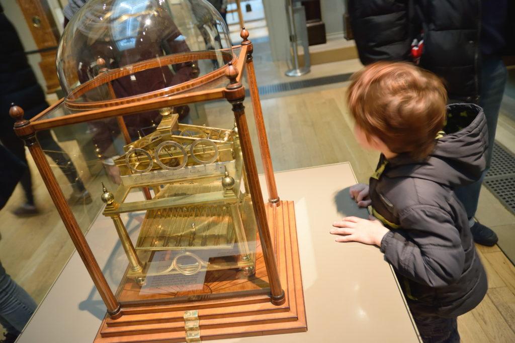 大英博物館の時計の展示