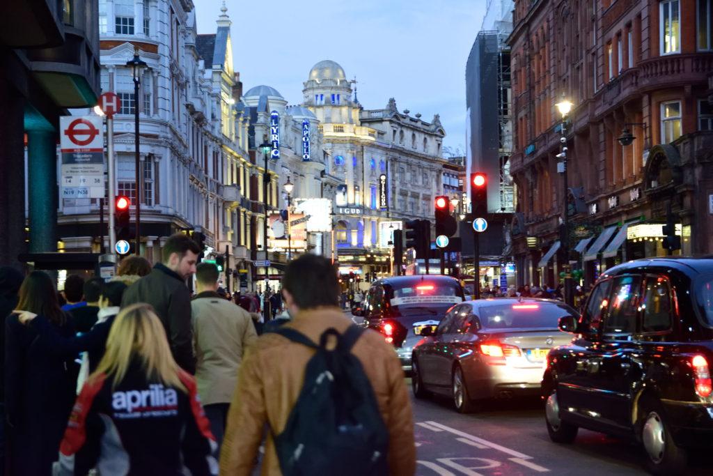 ロンドン、ソーホー地区の街並み