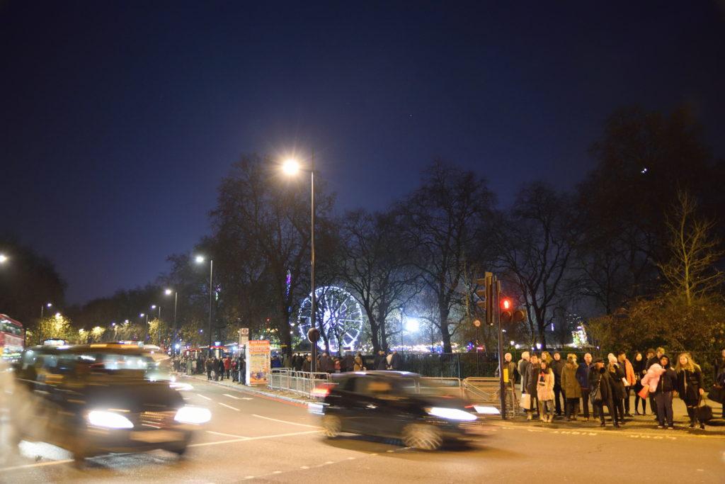 夜のハイドパーク