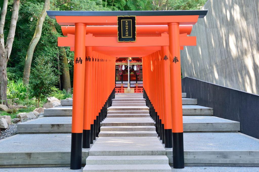 生田神社のたくさんの鳥居