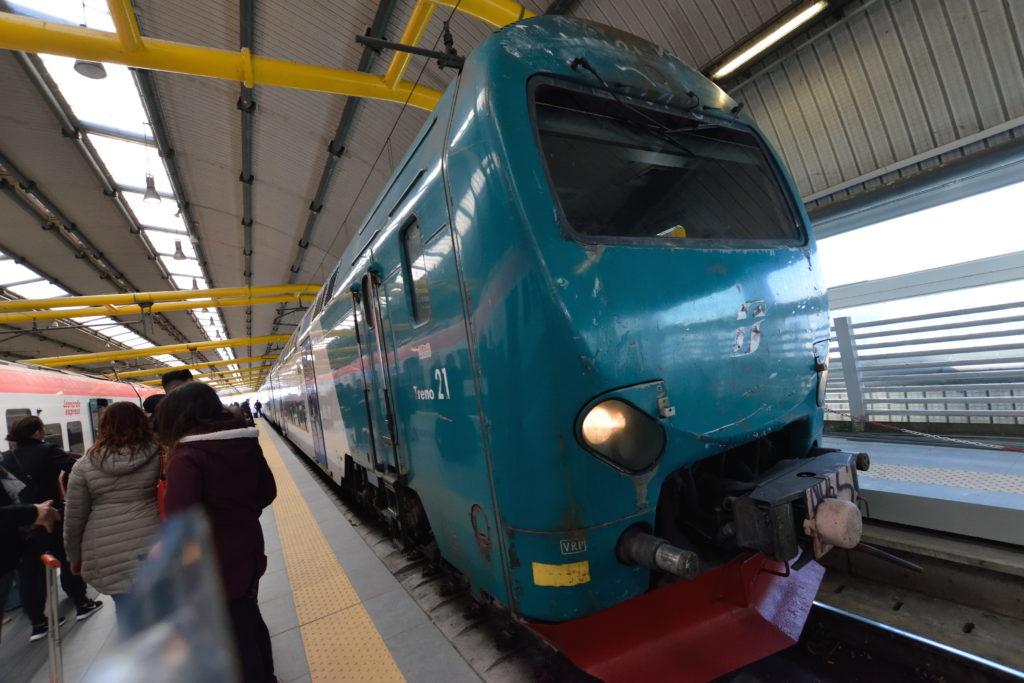 ローマ空港からの地域鉄道