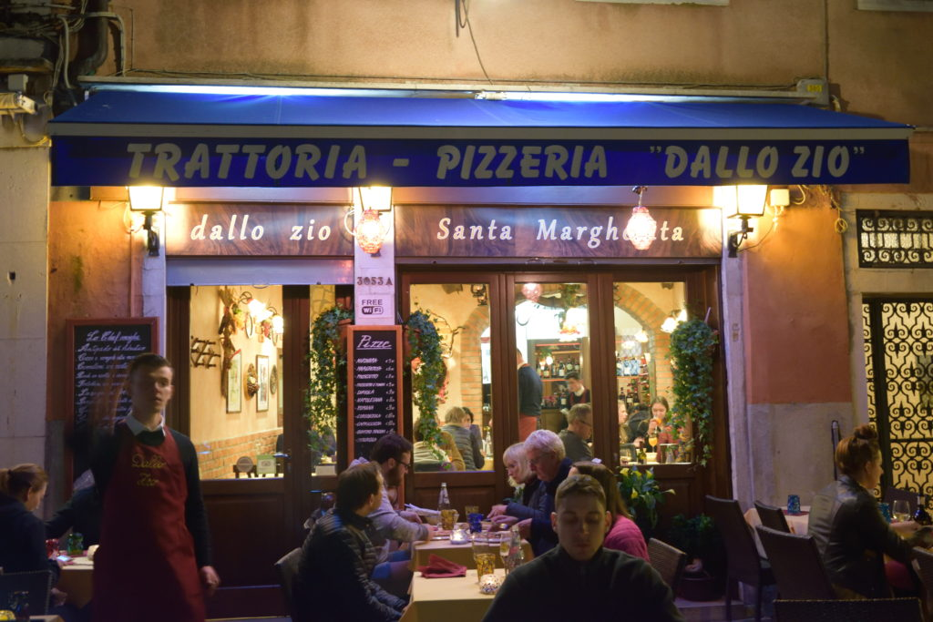 ベネチア、レストラン外観