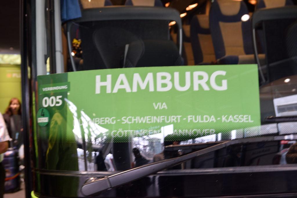 ハンブルク行きのバス