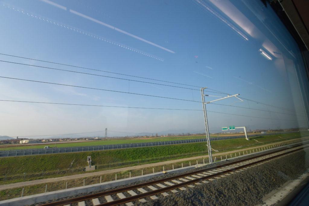 イタリアの車窓からの風景