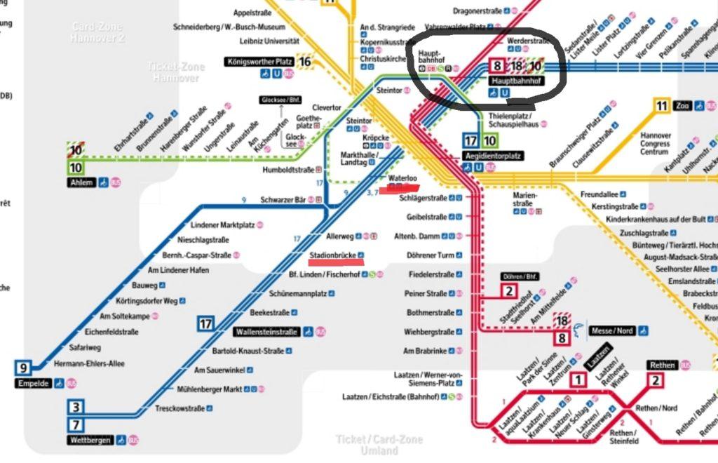 ハノーファー路線図
