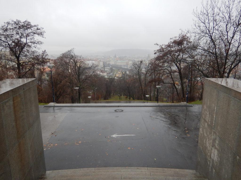 チェコの街の見晴らし