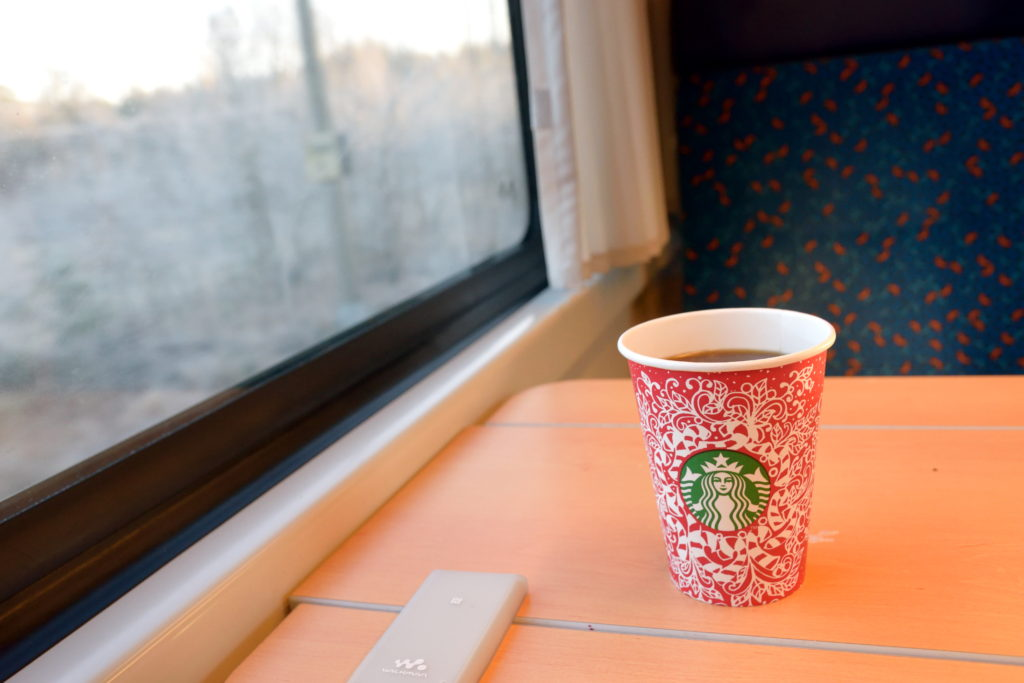 東欧の車内販売のコーヒー