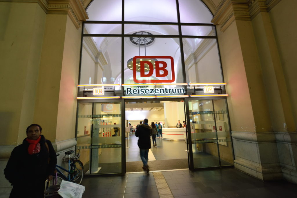 フランクフルト中央駅のチケットセンター