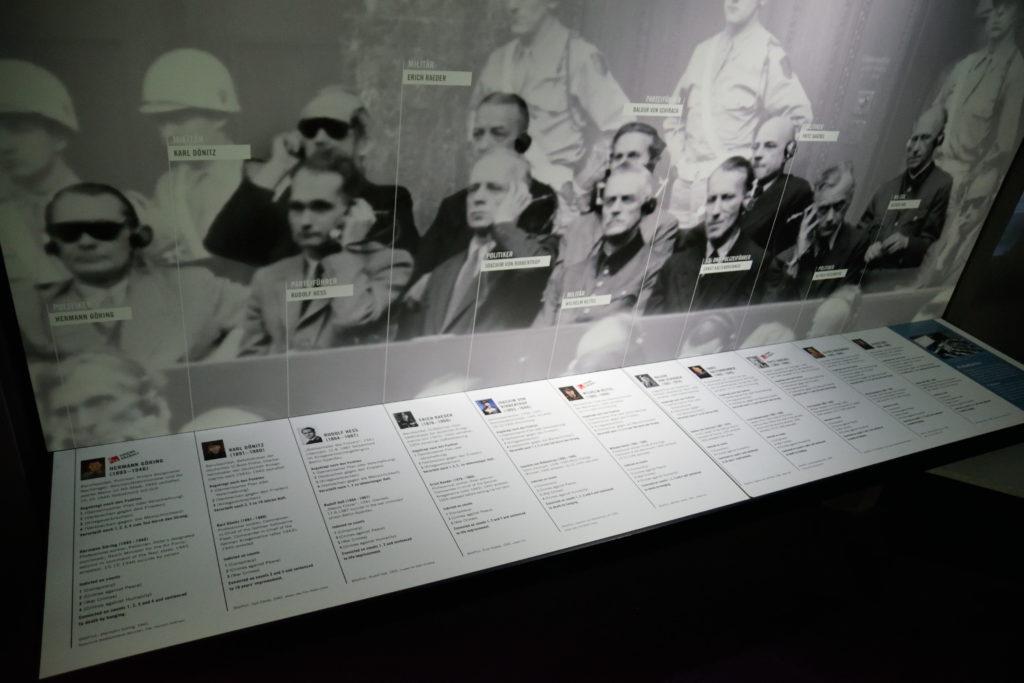 ニュルンベルク裁判に関する展示