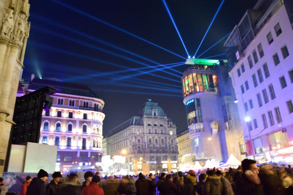 大晦日のウィーン市街の様子