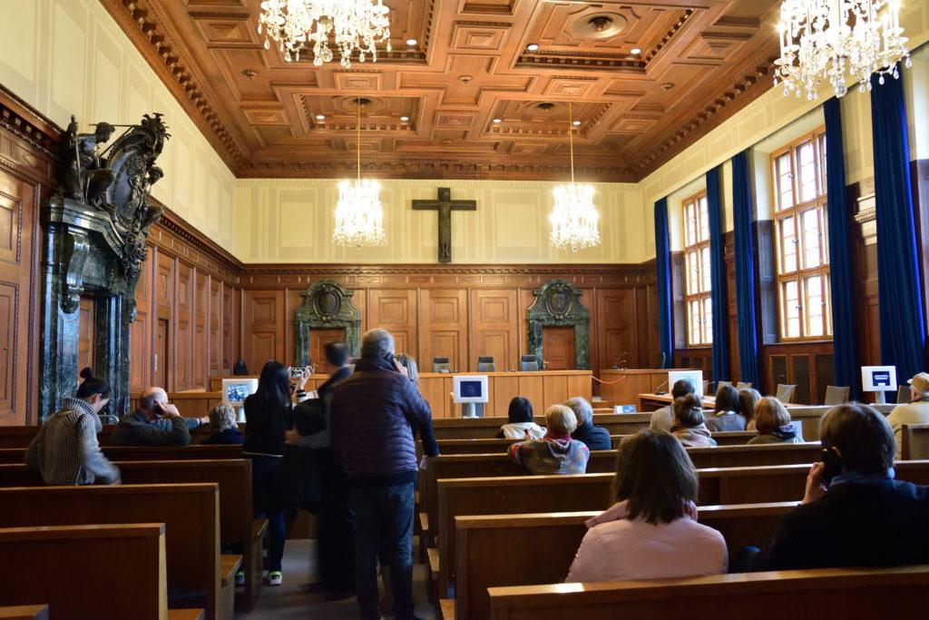 ニュルンベルク裁判所の再現部屋