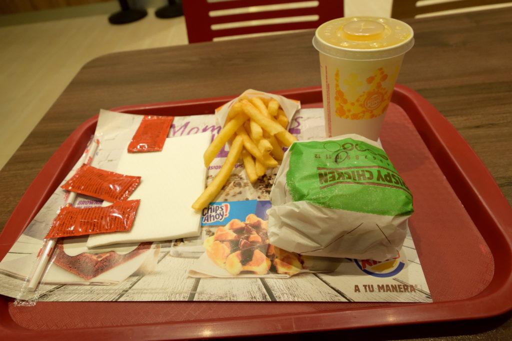 バーガーキングで夕食
