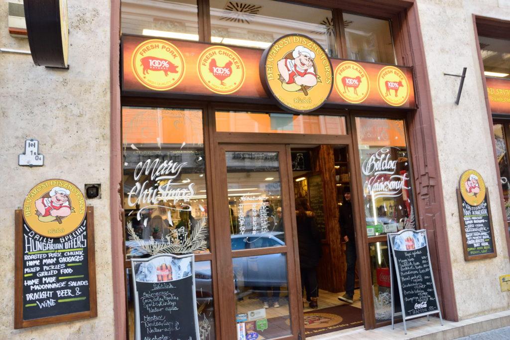 ブダペストの地元の料理店