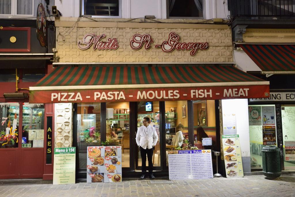 ブリュッセルのレストラン