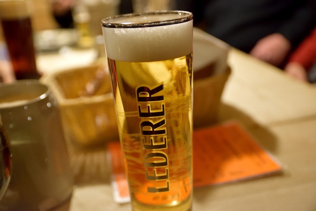 グラスでドイツビール
