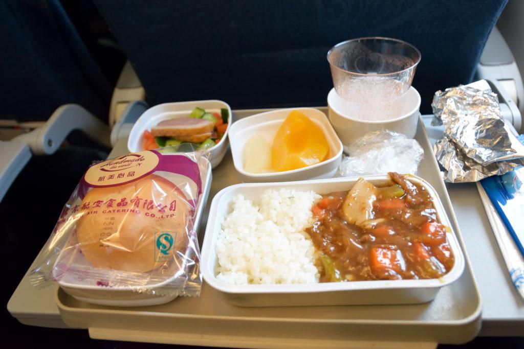 エア・チャイナ、北京羽田便の機内食